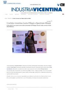 L'artista vicentina Lucia Filippi a Spectrum MiamiB
